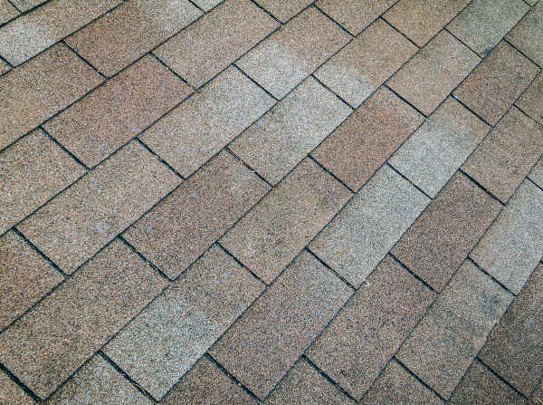 eroded roof tiles due to rain and heat of the sun